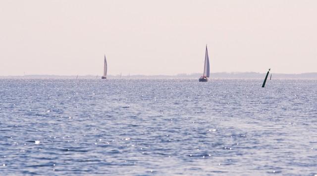 Die Orenga segelnd im Fahrwasser Nordöstlich von Aero.