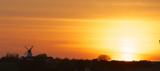 Perfekter Sonnenuntergang nach einem perfekten Segeltag.
